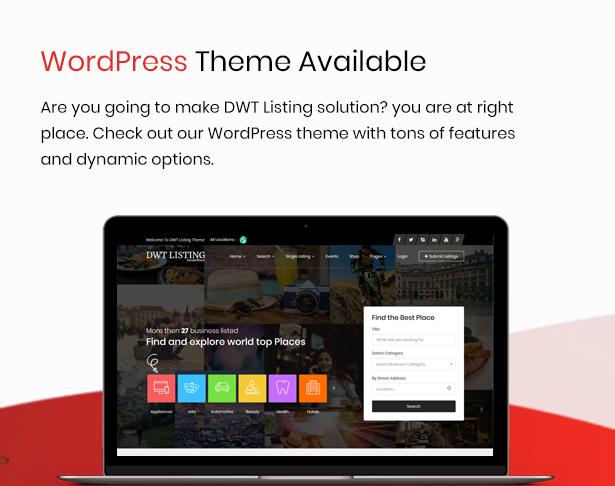 dwt listing theme